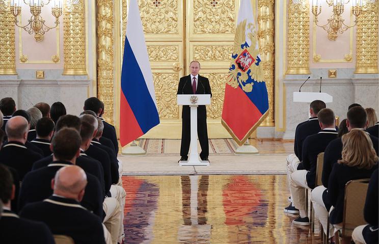 Путин проводил российских олимпийцев на Олимпиаду в Рио