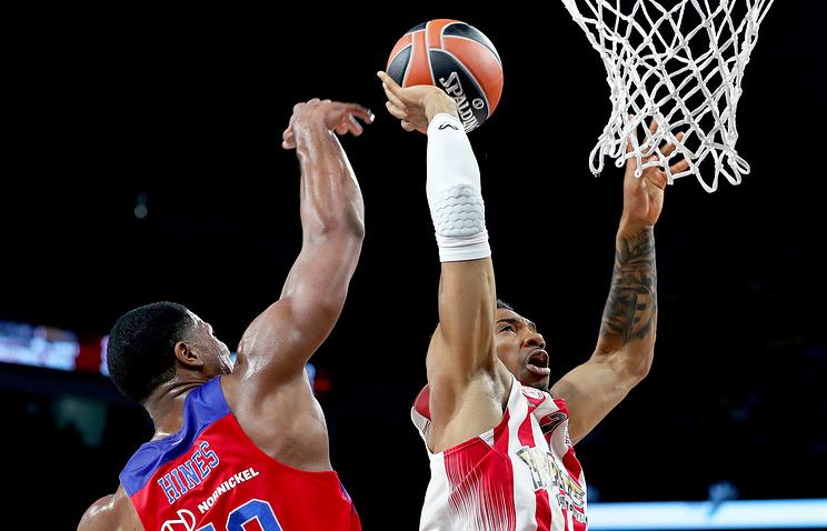 Баскетболисты ЦСКА проиграли 'Олимпиакосу' в полуфинале Евролиги