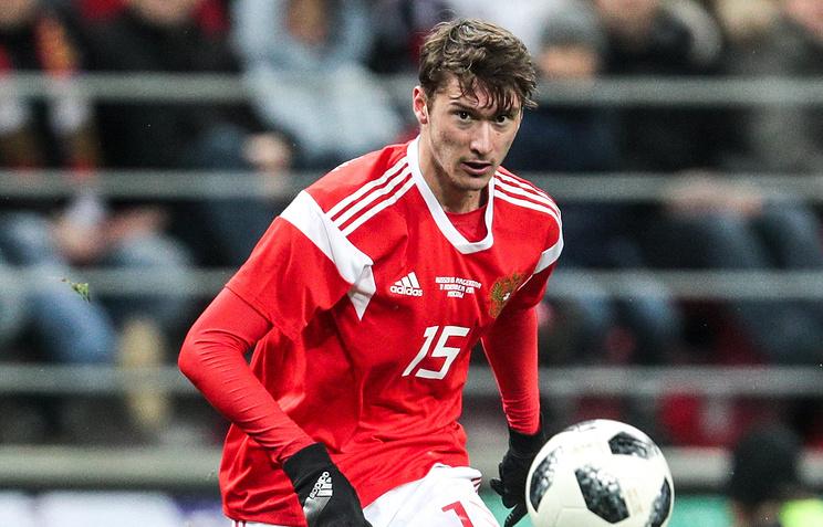 Алексей Миранчук выйдет в стартовом составе сборной России на матч с испанцами