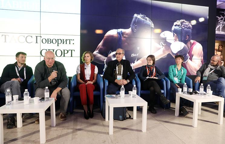 Дискуссия 'ТАСС говорит: Спорт' с участием фотографов прошла на выставке 'Главные кадры'