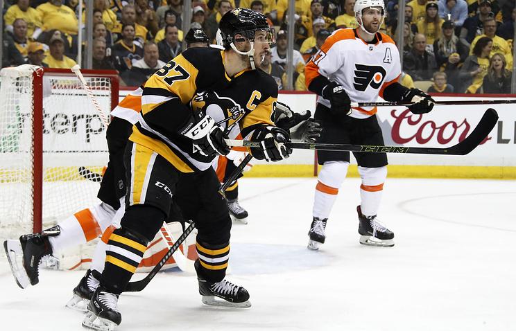 Хет-трик Кросби и гол Малкина помогли 'Питтсбургу' разгромить 'Филадельфию' в плей-офф НХЛ