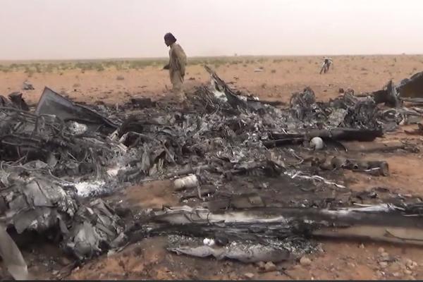Место крушения Ка-52 в Сирии попало на видео