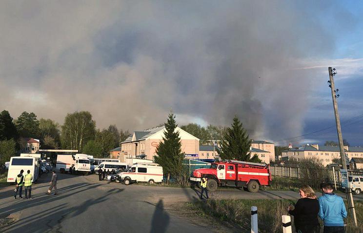 Площадь пожара на бывшем военном полигоне в Удмуртии увеличилась до 50 га
