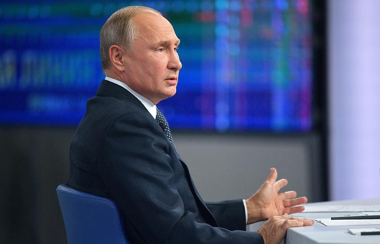 Путин считает, что обвинения в сговоре РФ с Трампом нельзя воспринимать иначе как шутку