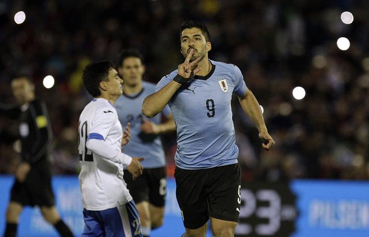 Футболисты сборной Уругвая обыграли команду Узбекистана в товарищеском матче