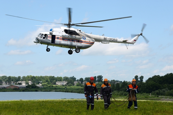 Разбившийся Ми-8 под Красноярском столкнулся с грузом другого вертолета
