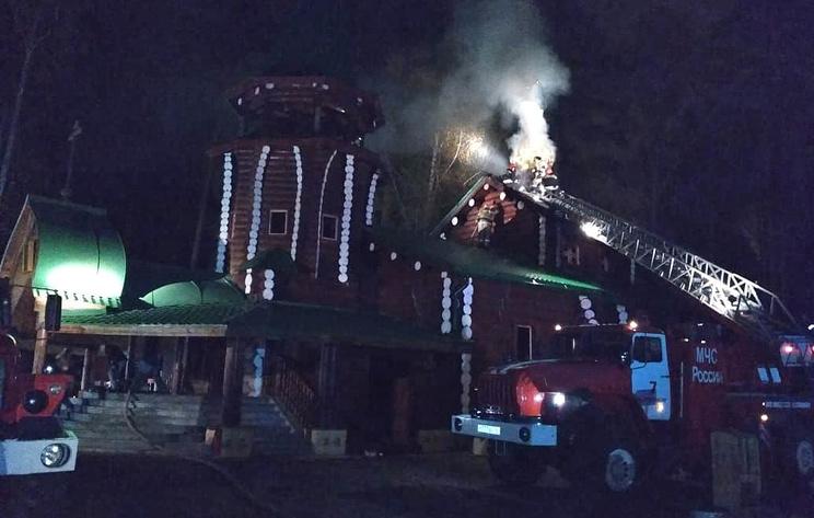 Пожар в монастыре на Ганиной яме в Свердловской области полностью потушен