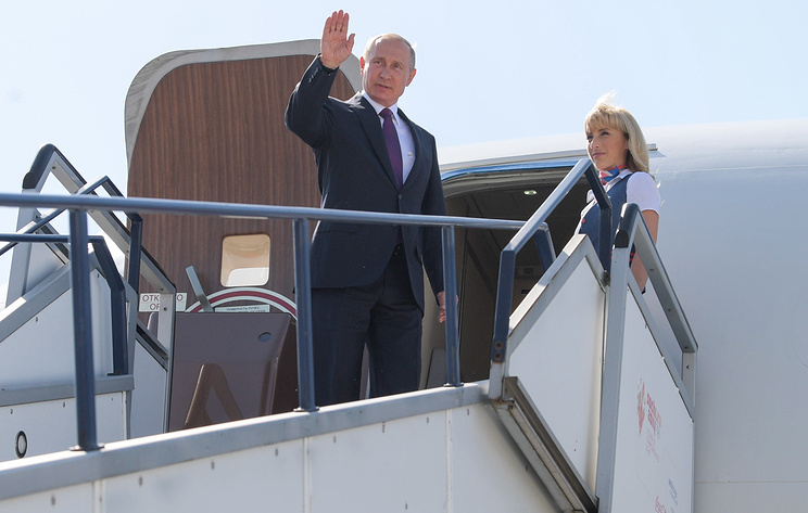 Прибытие Путина в Нью-Дели. Видеотрансляция