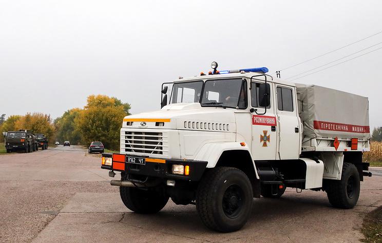 В минобороны Украины сообщили о ликвидации пожара на арсенале в Черниговской области