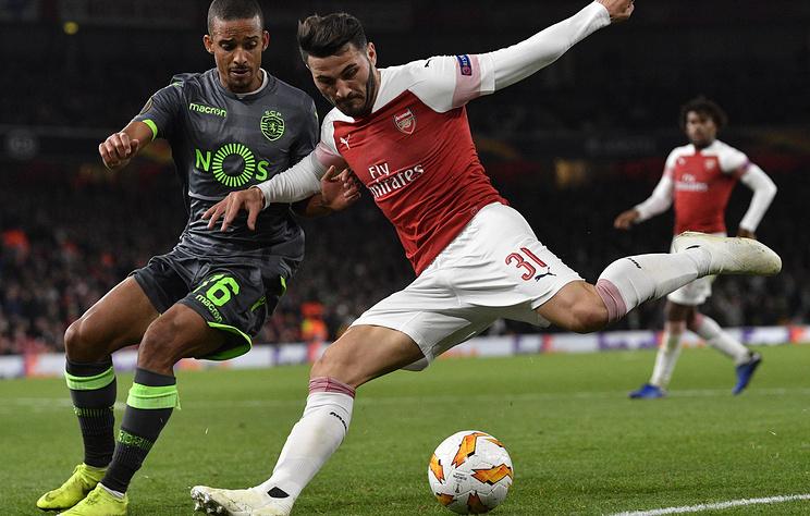 'Арсенал' досрочно пробился в 1/16 финала Лиги Европы, сыграв вничью со 'Спортингом'