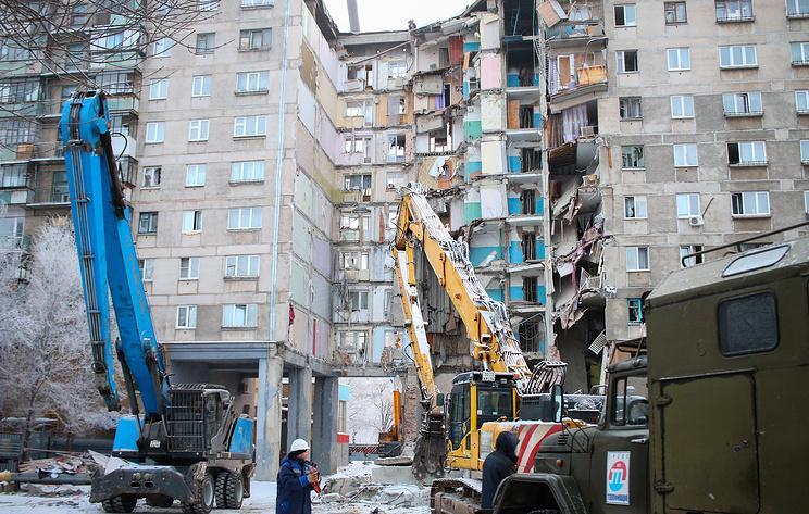 На месте обрушения подъезда дома в Магнитогорске нашли ценные вещи