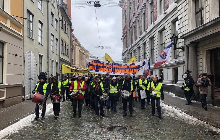 В Риге проходит марш против социального и национального неравенства