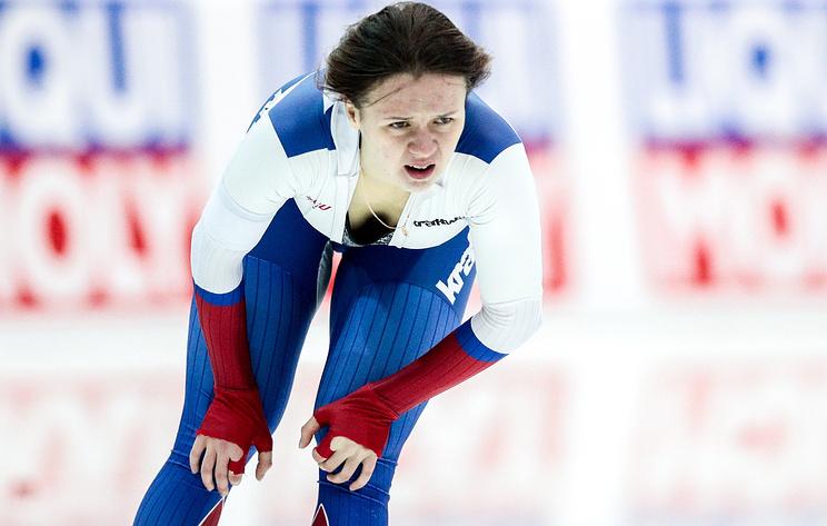 Конькобежка Качанова после двух дистанций идет второй на ЧЕ в спринтерском многоборье