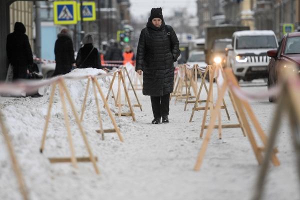 Петербургских учителей выгнали на уборку снега