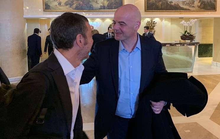Президент ФИФА Инфантино прибыл на заседание исполнительного комитета УЕФА в Риме