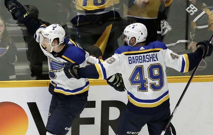 """Хет-трик Тарасенко принес """"Сент-Луису"""" победу над """"Нэшвиллом"""" в матче НХЛ"""