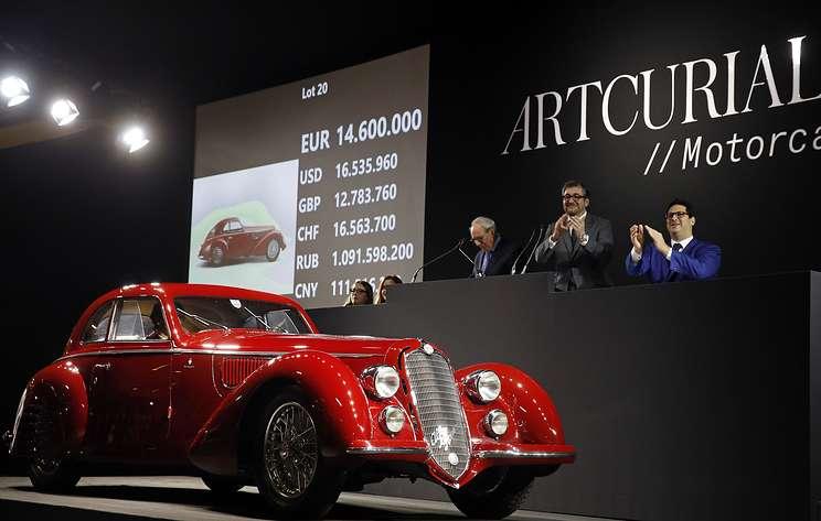 СМИ: Alfa Romeo 1939 года продали на аукционе в Париже за €16,7 млн