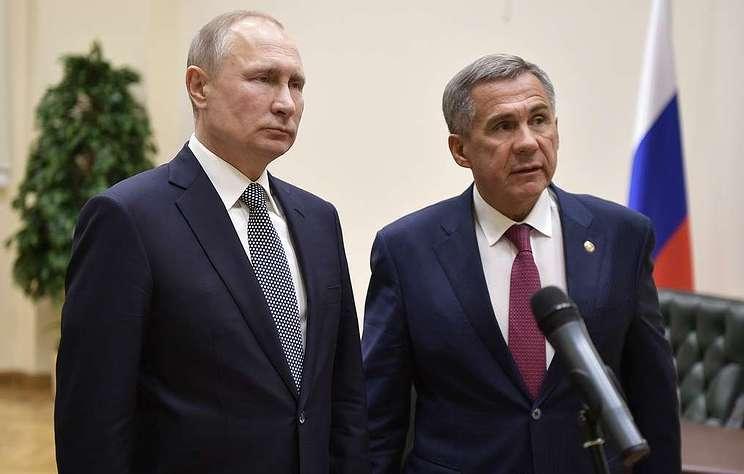 Путин в шутку подловил главу Татарстана на невнимательности