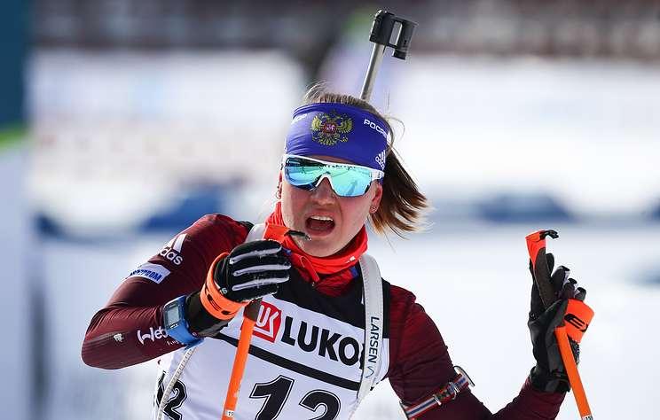 Российская биатлонистка Резцова завоевала серебро на этапе Кубка IBU в Италии