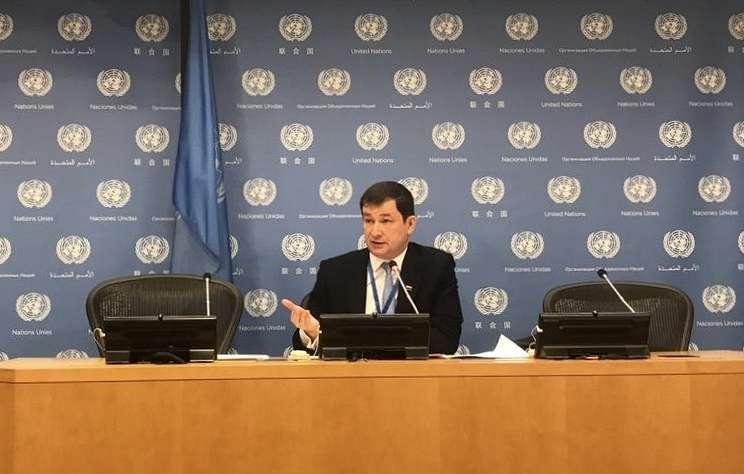 Пресс-конференция зампостпреда России при ООН, посвященная годовщине возвращения Крыма