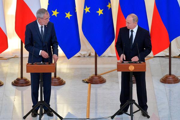 Путин по-немецки ответил на приглашение приехать в Австрию