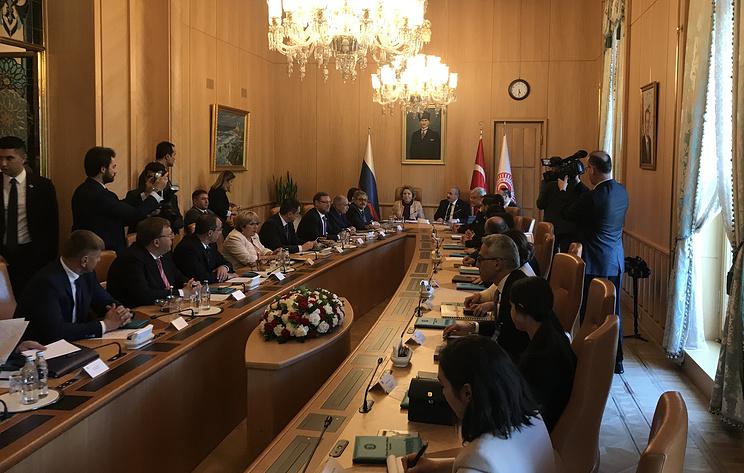 Матвиенко: сотрудничество парламентов РФ и Турции активизировалось за последние три года