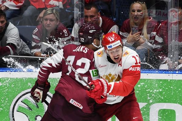 Россия пропустила первой и обыграла Латвию на чемпионате мира