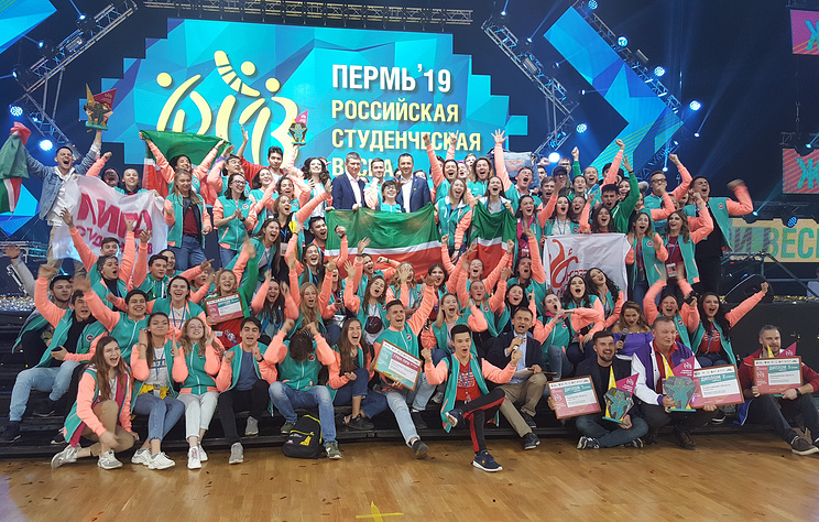"""Гран-при фестиваля """"Российская студенческая весна"""" получила команда из Татарстана"""