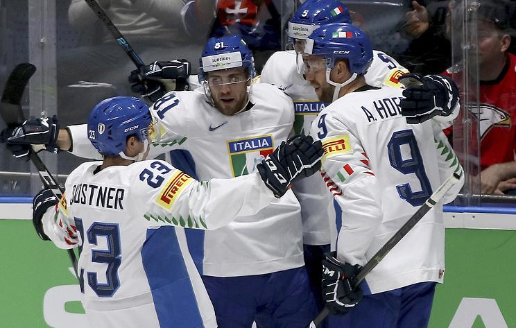 Итальянские хоккеисты обыграли австрийцев и сохранили место в высшем дивизионе ЧМ