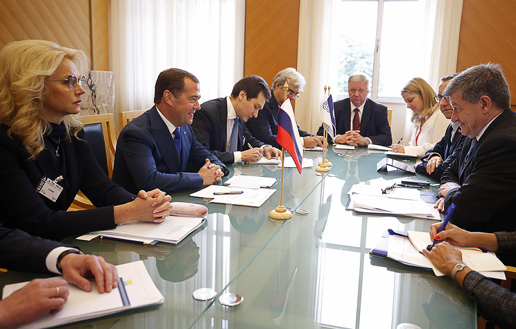 Выступление Медведева на Международной конференции труда в Женеве. Видеотрансляция