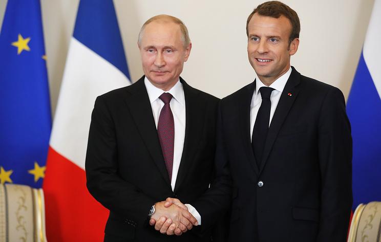 В Елисейском дворце заявили, что Путин и Макрон могут провести встречу в ближайшее время