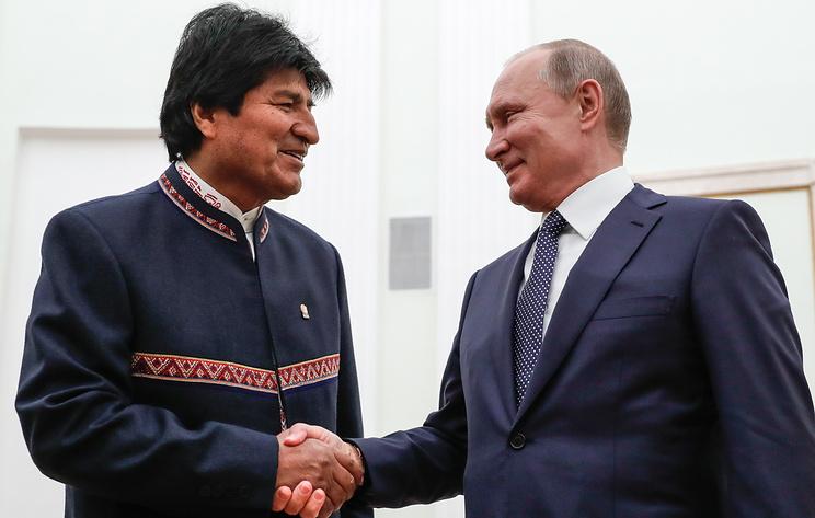 Пресс-конференция президентов России и Боливии в Москве. Видеотрансляция