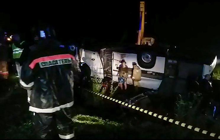 Водитель перевернувшегося в Башкирии автобуса уже привлекался за превышение скорости