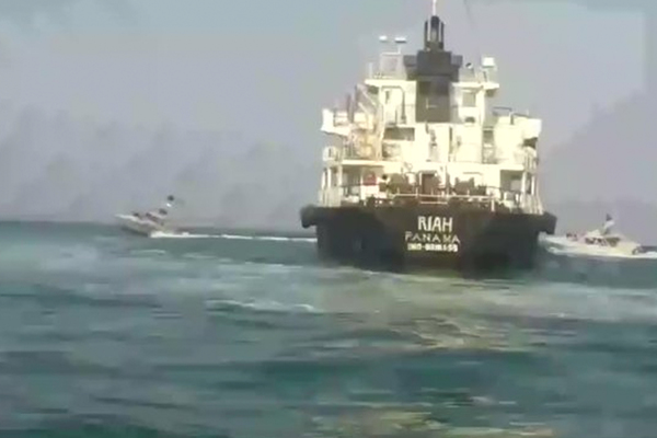 Появилось видео захвата Ираном нефтяного танкера
