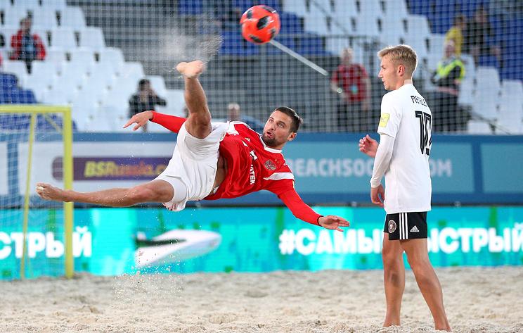 Сборная России победила немцев в матче отборочного турнира к ЧМ по пляжному футболу