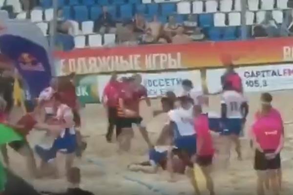 Сборная Дагестана по регби устроила массовую драку в Москве