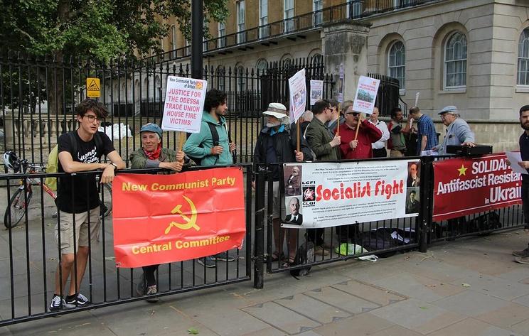 Британские антифашисты потребовали от правительства прекращения военной помощи Украине