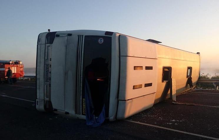 В ДТП с автобусом под Волгоградом погиб один человек