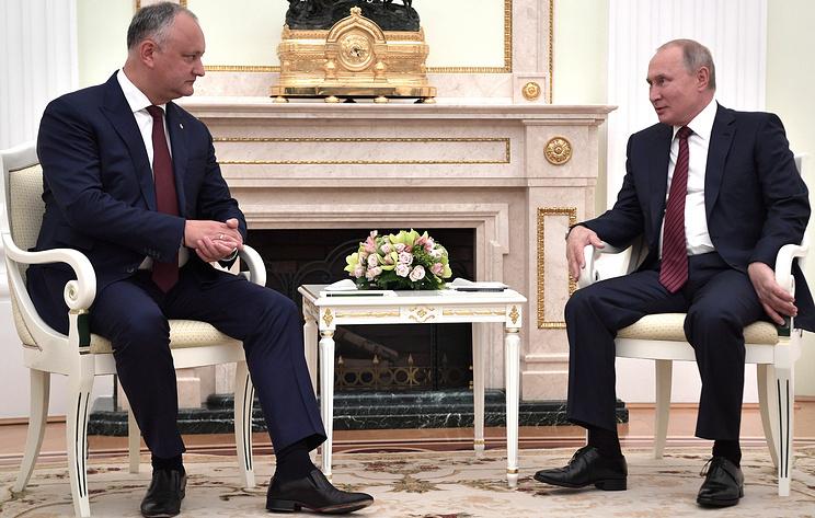 Путин считает, что стабилизация ситуации в Молдавии позволит углубить сотрудничество с РФ