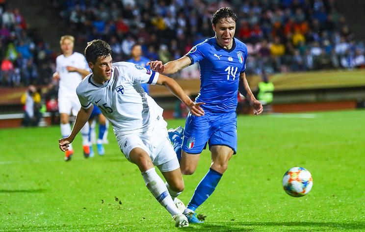 Сборная Италии по футболу победила команду Финляндии в матче отбора ЧЕ-2020
