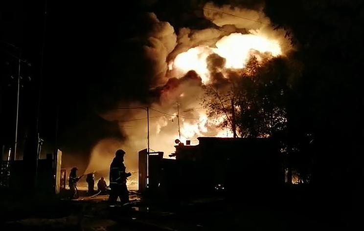 Пожар на складе горюче-смазочных материалов в Нижегородской области локализован