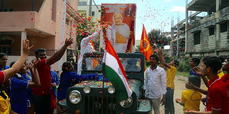 Человек, который изменил страну. В Индии отмечают юбилей Махатмы Ганди