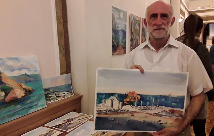 Выставка художников Италии и РФ открылась после совместного пленэра в Крыму