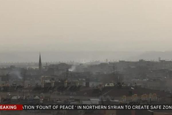 Опубликованы первые кадры турецкой военной операции в Сирии