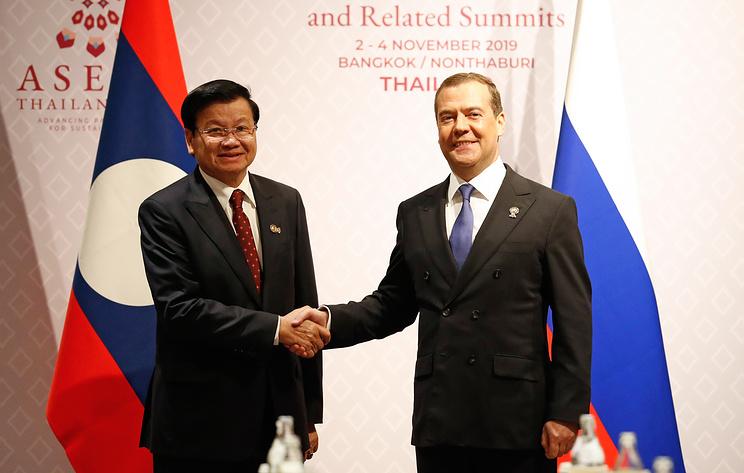 Медведев в Бангкоке встретился с премьер-министром Лаоса