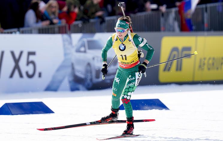 Итальянская биатлонистка Вирер выиграла спринт на этапе Кубка мира в Швеции