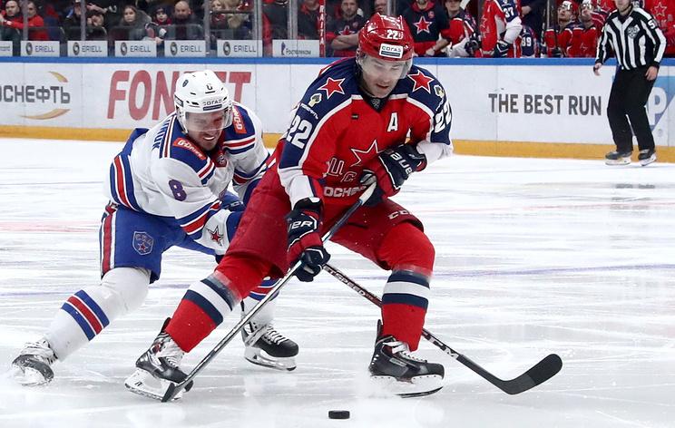 СКА обыграл ЦСКА и вышел на первое место в таблице Западной конференции КХЛ