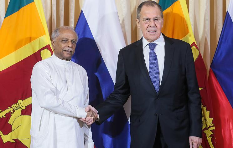 Лавров пригласил главу МИД Шри-Ланки посетить Россию