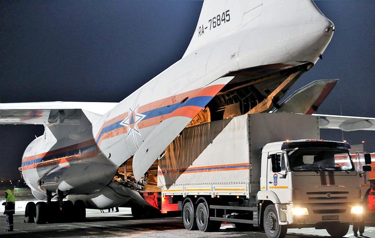 Самолет МЧС России доставил в Китай гуманитарную помощь