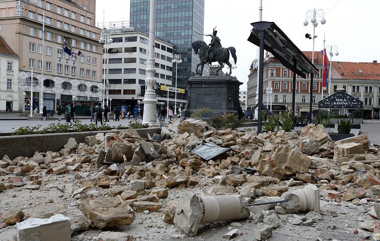 Сильнейшее за последние 140 лет землетрясение потрясло хорватский Загреб